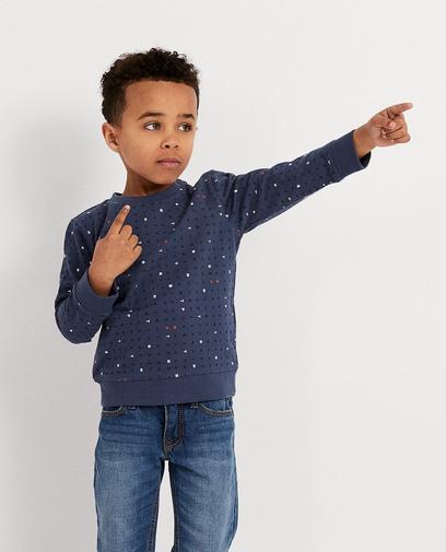 Sweater mit durchgehendem Print